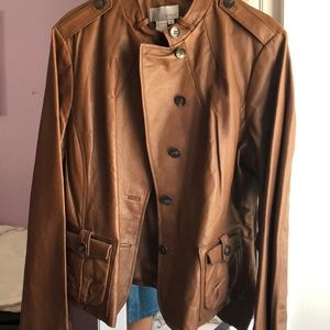Jackets & Blazers - Caramel leather jacket
